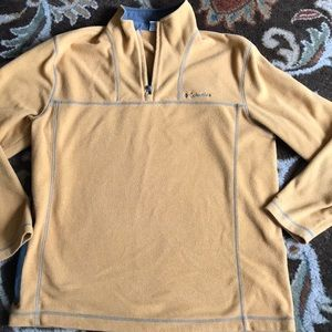 Men's size M Columbia pullover fleece gold gray